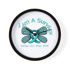 Ovarian Cancer I Am A Survivor Wall Clock