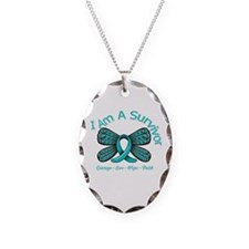 Ovarian Cancer I Am A Survivor Necklace
