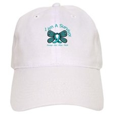 Ovarian Cancer I Am A Survivor Baseball Cap
