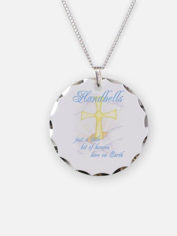 Little Bit of Heaven Necklace Circle Charm