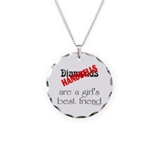 Girl's Best Friend Necklace Circle Charm