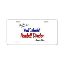 worlds greatest director.png Aluminum License Plat