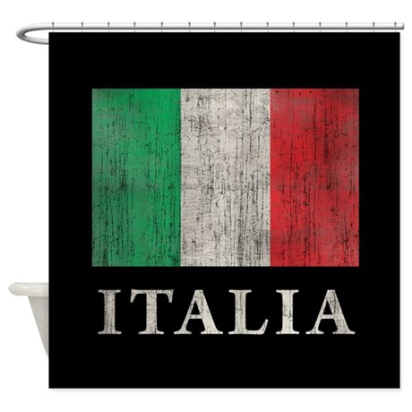 Vintage Italia Shower Curtain