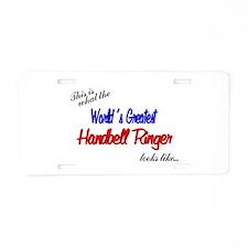 World's Greatest Ringer Aluminum License Plate