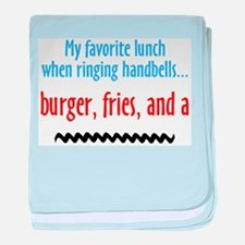 Burger, Fries and a Shake baby blanket