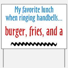Burger, Fries and a Shake Yard Sign