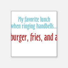 "Funny Handbell Square Sticker 3"" x 3"""