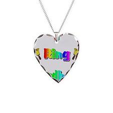 Handbell Necklace Heart Charm