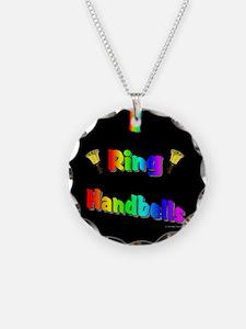 Handbell Necklace Circle Charm