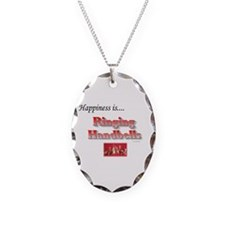 Happiness Is... Necklace Oval Charm