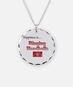 Happiness Is... Necklace Circle Charm