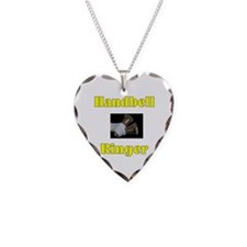 Handbell Ringer Necklace Heart Charm