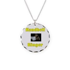 Handbell Ringer Necklace Circle Charm