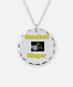 Handbell Ringer Necklace Circle Charm