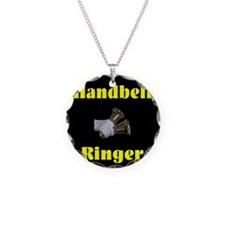 Funny Handbell Necklace Circle Charm