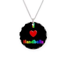 Handbell Necklace Circle Charm