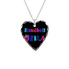 Handbell Necklace Heart Charm