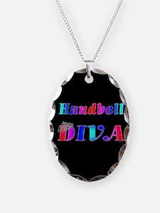 Cute Handbell Necklace Oval Charm