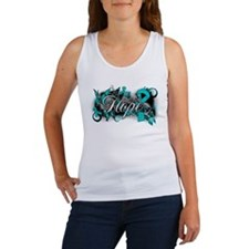 Ovarian Cancer Hope Garden Ribbon Women's Tank Top