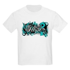 Ovarian Cancer Hope Garden Ribbon T-Shirt