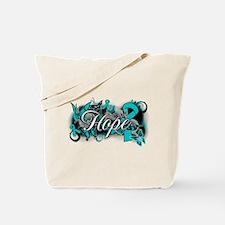 Ovarian Cancer Hope Garden Ribbon Tote Bag