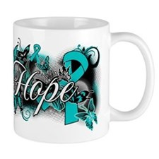 Ovarian Cancer Hope Garden Ribbon Mug