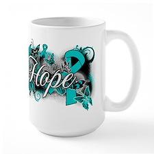 Ovarian Cancer Hope Garden Ribbon Coffee Mug
