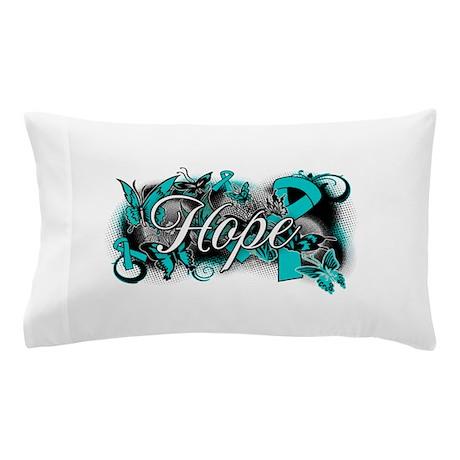 Ovarian Cancer Hope Garden Ribbon Pillow Case