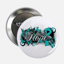 "Ovarian Cancer Hope Garden Ribbon 2.25"" Button"