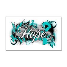 Ovarian Cancer Hope Garden Ribbon Car Magnet 20 x