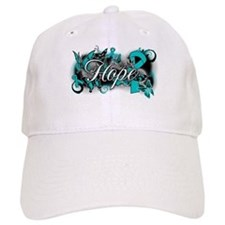 Ovarian Cancer Hope Garden Ribbon Baseball Cap