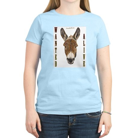 Burro: Wanted Alive Women's Pink T-Shirt