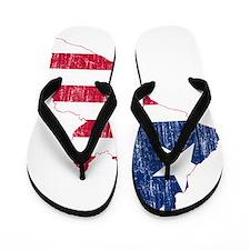 Liberia Flag And Map Flip Flops