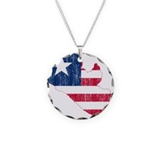 Liberia Flag And Map Necklace