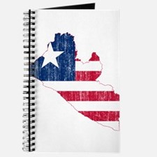 Liberia Flag And Map Journal