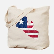Liberia Flag And Map Tote Bag