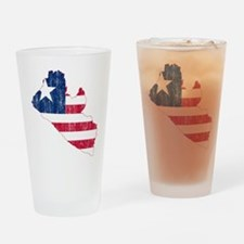Liberia Flag And Map Drinking Glass