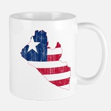 Liberia Flag And Map Mug