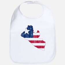 Liberia Flag And Map Bib