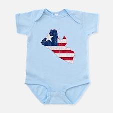 Liberia Flag And Map Infant Bodysuit