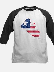 Liberia Flag And Map Tee