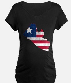 Liberia Flag And Map T-Shirt