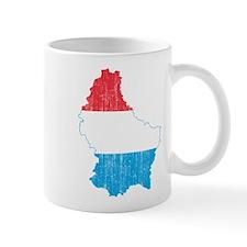 Luxembourg Flag And Map Mug