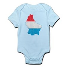 Luxembourg Flag And Map Infant Bodysuit