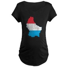 Luxembourg Flag And Map T-Shirt