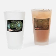 Catching Fire Arena Clock Drinking Glass