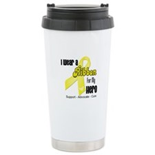 I Wear a Ribbon Spina Bifida Travel Mug