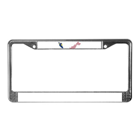 Malaysia Flag And Map License Plate Frame