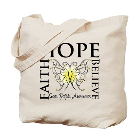 Hope Faith Spina Bifida Tote Bag