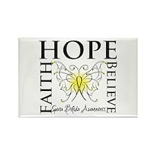 Hope Faith Spina Bifida Rectangle Magnet